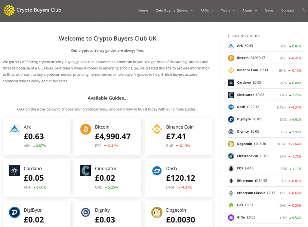 Crypto Buyers Club on CryptoWP